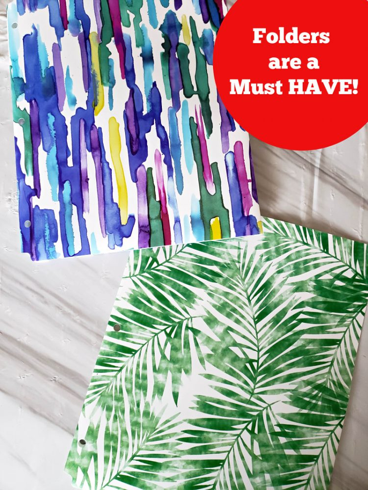 Folders are a must have- back to school with Office Depot