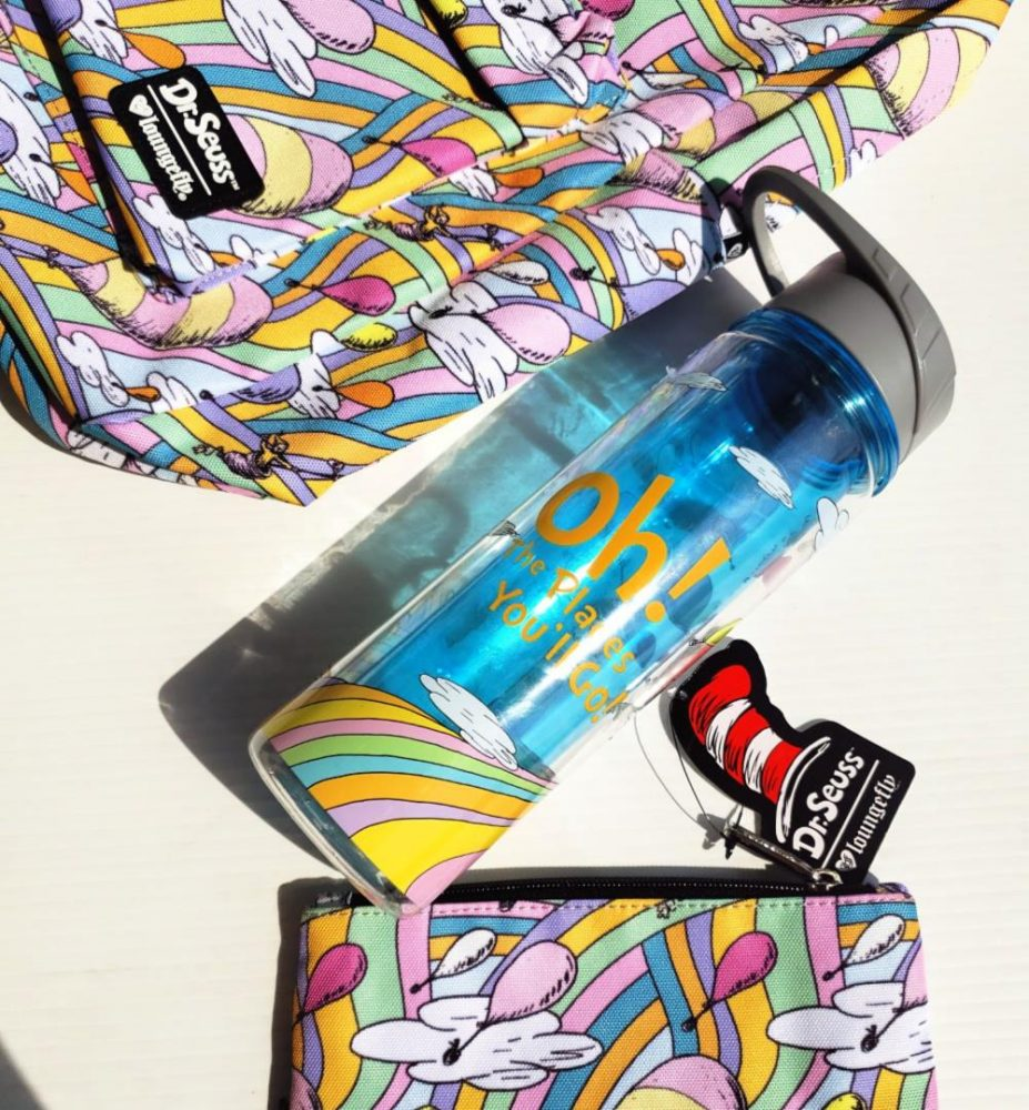 Dr. Seuss Backpack, Water Bottle, and bag