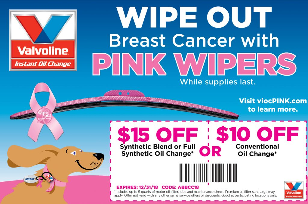 Coupon for $15 or $10 OFF Oil Change