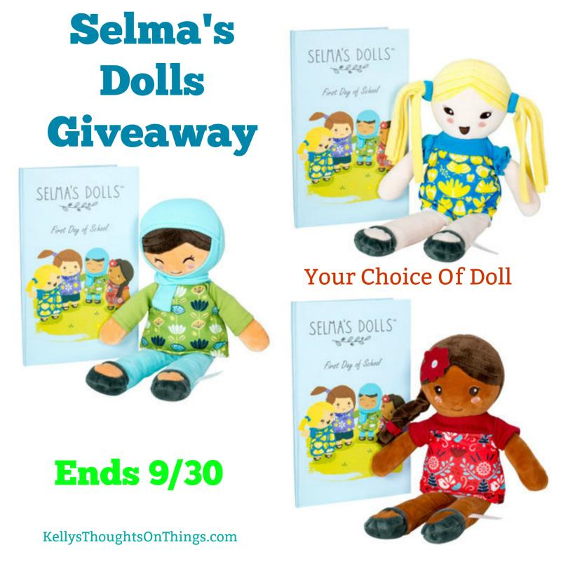 Giveaway 9/11 to 9/30 win your choice of a Selma's Doll