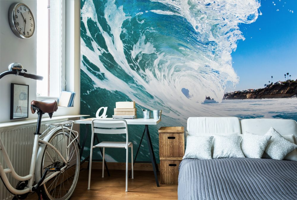 Wall Mural with a BIG wave on it.