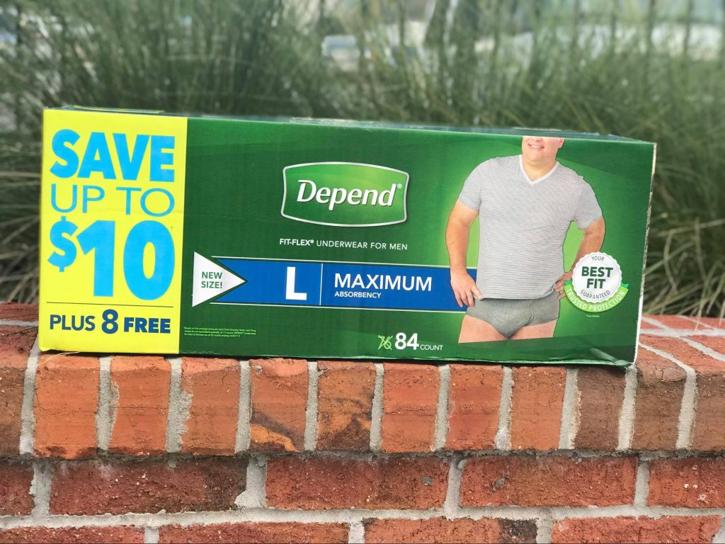 Large FitFlex from Depends and Sam's Club