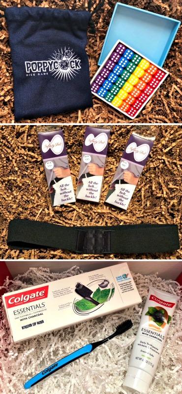 Amazing Stocking Stuffers – Poppycock Dice Game, InfinityBelt and Colgate Essentials 1
