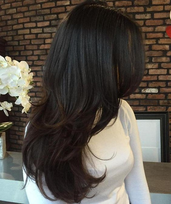 Medium Length Hairstyle and Side Layers