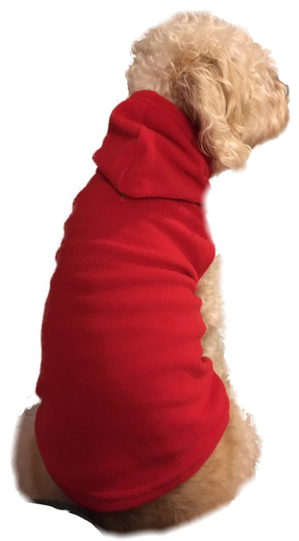Red Fleece Hoodie for Pets. These fleece hoodie are the perfect comfort wear for your dogs, and cats too! For ultimate comfort, our hoodies have large arm holes instead of sleeves which your pet will love you for. Big Feet PJs hoodies are made from premium micro polar anti-pill fleece and are available in sizes small to extra large.