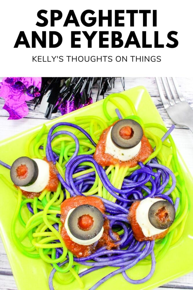 Spaghetti and Eyeballs on a plate