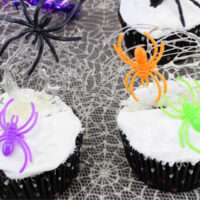 Spun Spiderweb Cupcakes