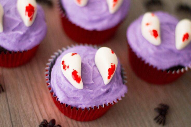 Vampire Fang Cupcakes