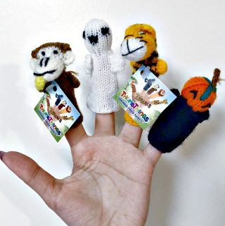 Thumb Things Has Adorable Finger Puppets For Halloween—A Wonderful Alternative To Halloween Candy!
