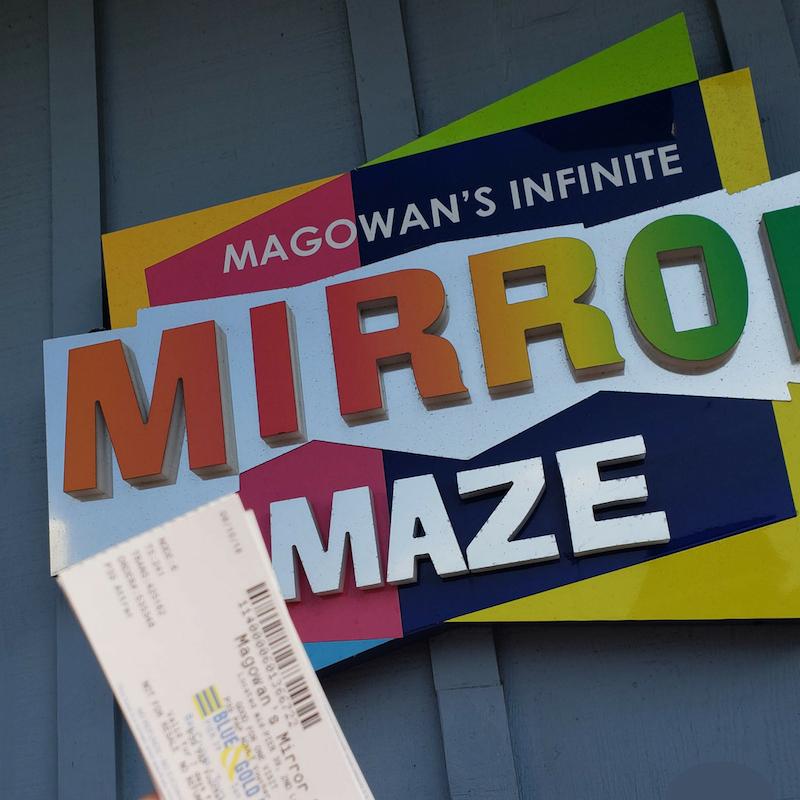 Mirror Maze Sign in Pier 39