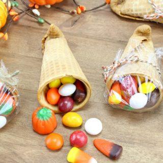 Cornucopia Treats for Kids on Thanksgiving