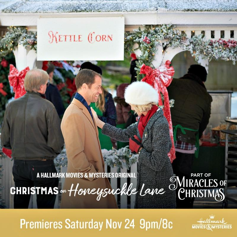 "Hallmark Movies & Mysteries ""Christmas on Honeysuckle Lane"" Premiering this Saturday, Nov 24th at 9pm/8c! #MiraclesofChristmas"