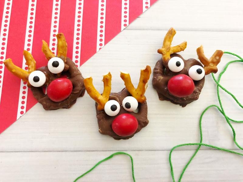 Rudolph Pretzel Bites Recipe