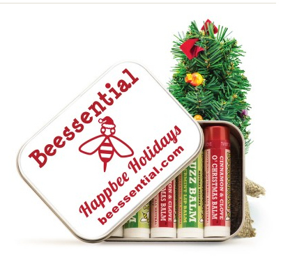 Happbee Holidays Pick Your Own Lip Balm Tin 5-Pack