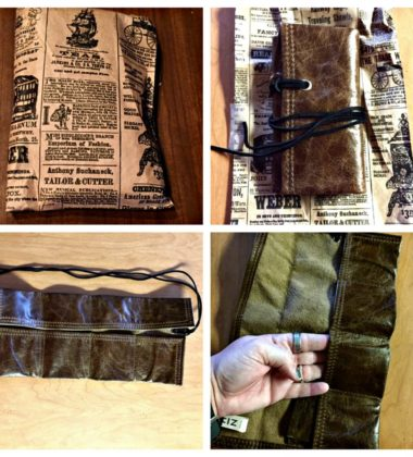 A Leather Watch Roll With Many Uses