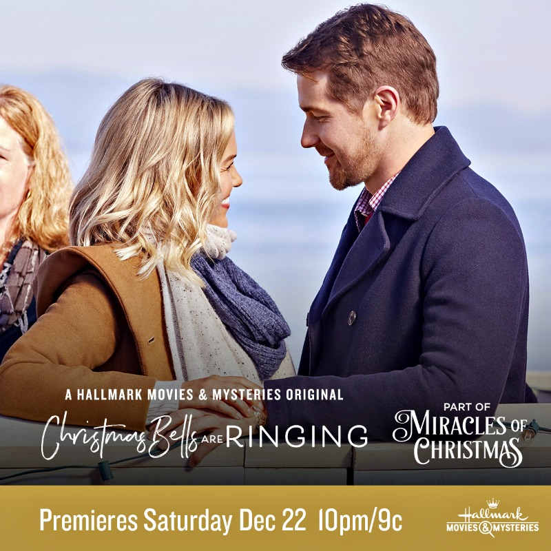 "Hallmark Movies & Mysteries ""Christmas Bells are Ringing"" Premiering this Saturday, Dec. 22nd at 10pm/9c! #MiraclesofChristmas"