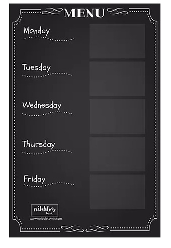Weekly Dinner Menu Planning Board