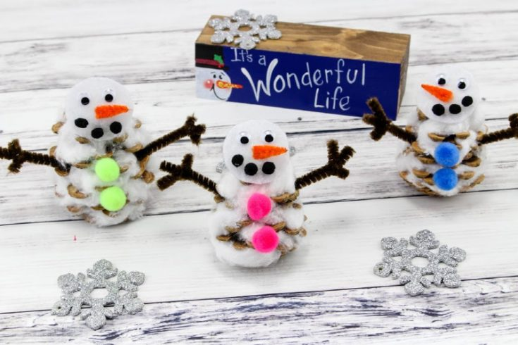 Pinecone Snowmen - Easy Craft For The Holidays