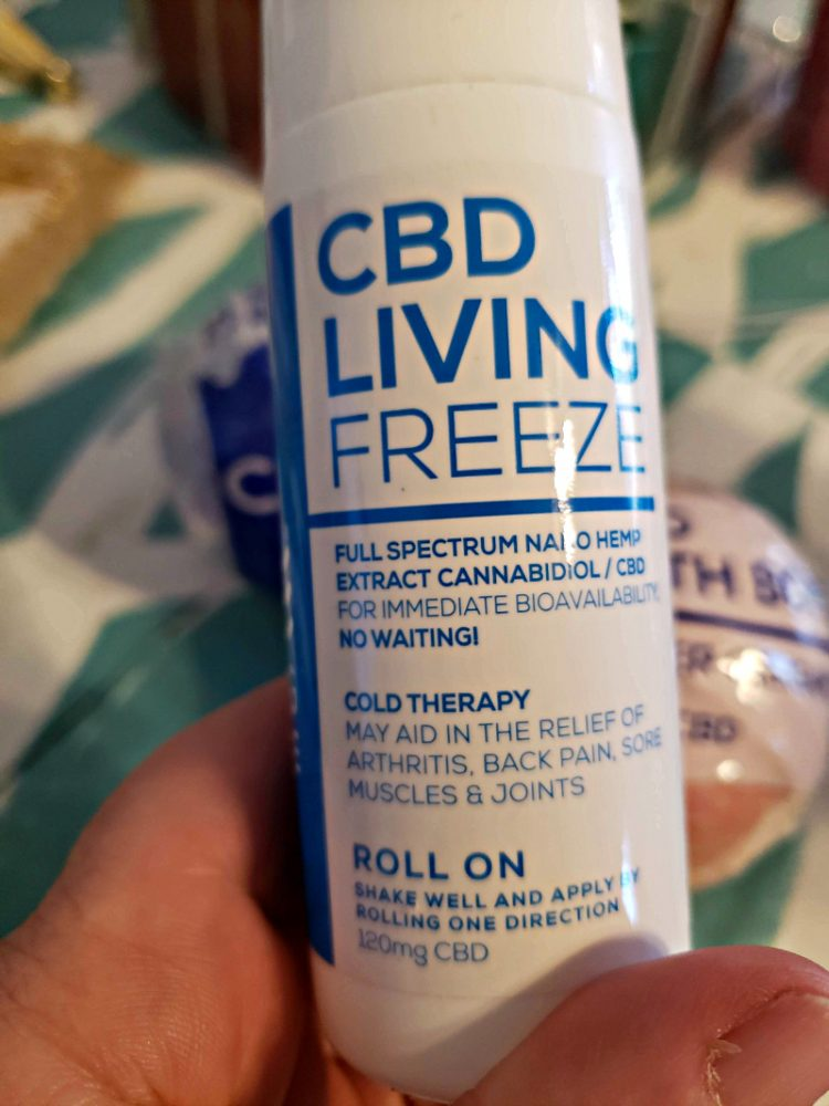 CBD Living Freeze is great for sore muscles, arthritis, chronic pain, and stiffness