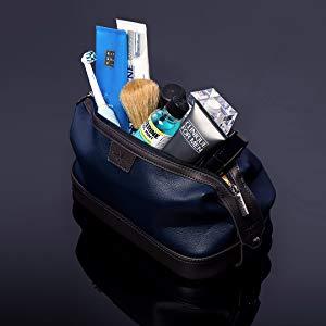 Vetelli Leo Leather Toiletry Bag for Men - Dopp Kit
