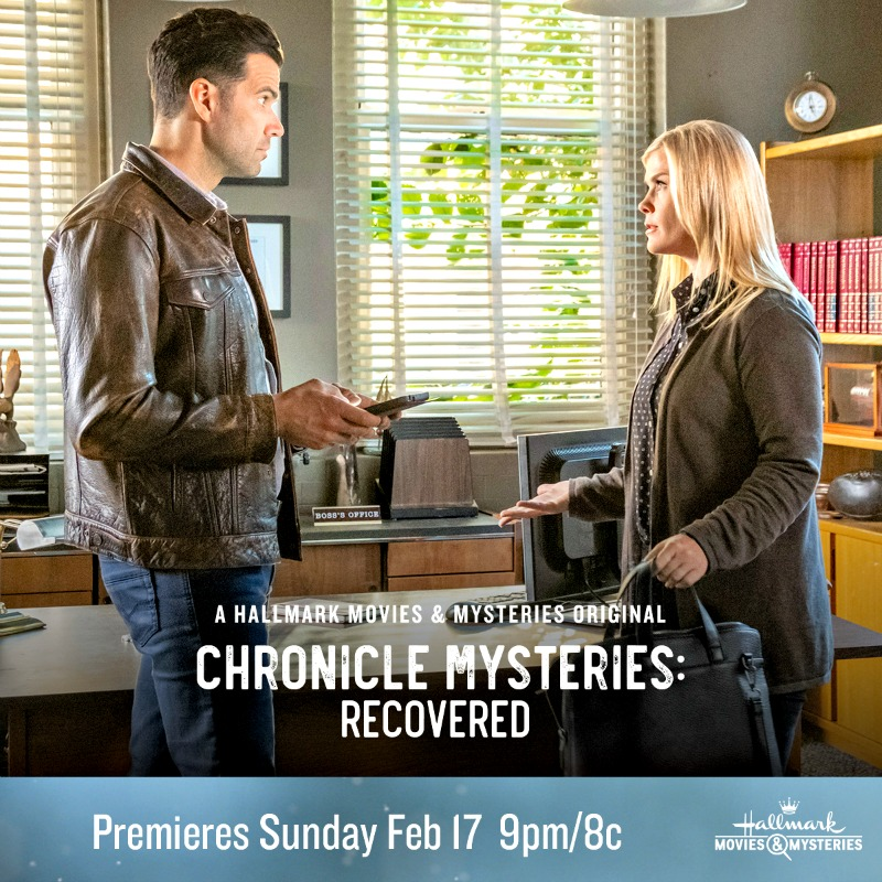 hallmark movies mysteries chronicle mysteries recovered premiering this sunday feb 17th. Black Bedroom Furniture Sets. Home Design Ideas