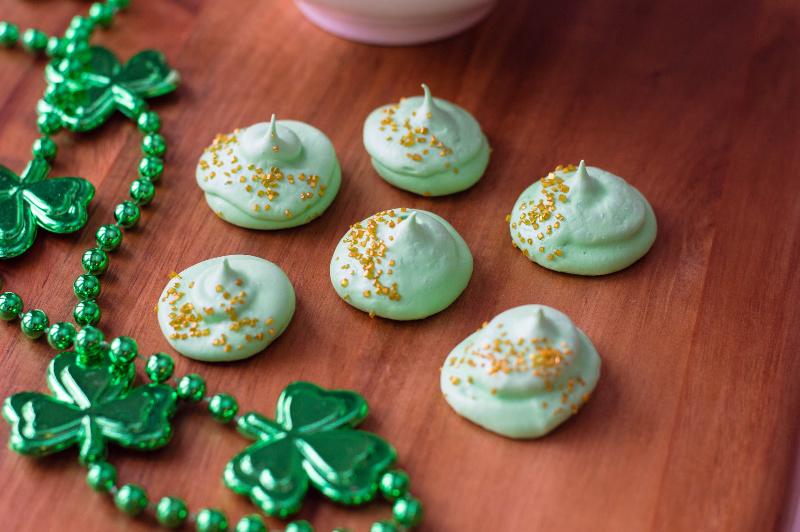 St. Patrick's Lucky Medallion Meringues