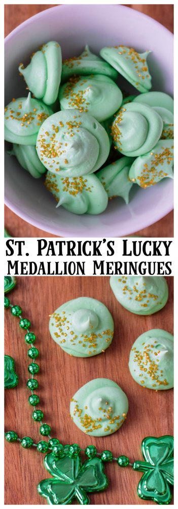 St. Patrick's Lucky Medallion Meringues Recipe