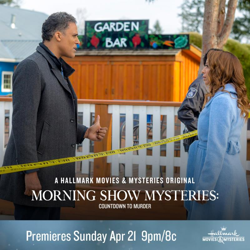 """Hallmark Movies & Mysteries """"Morning Show Mysteries: Countdown to Murder"""" Premiering This Sunday, April 21st at 9pm/8c!"""