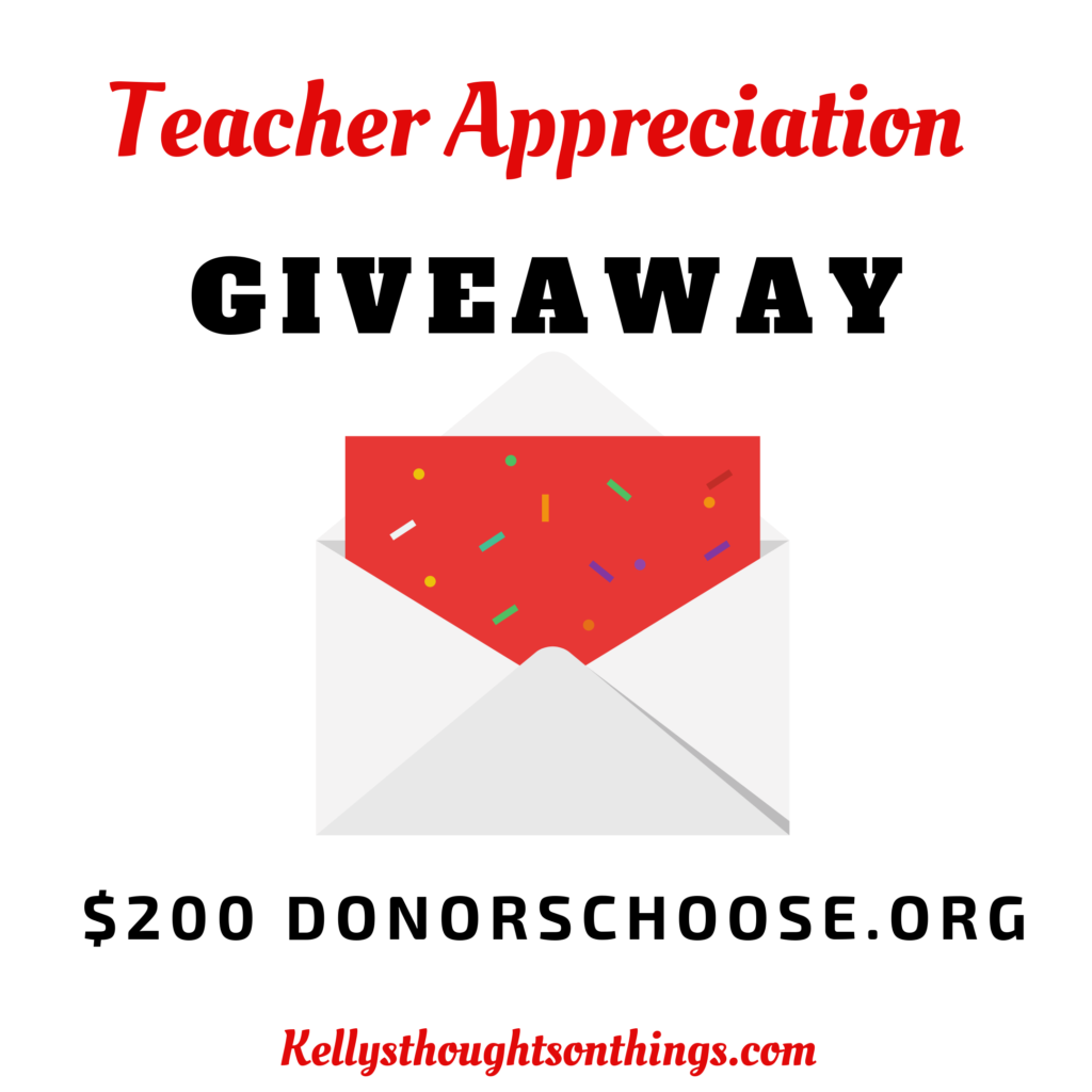 Teacher Appreciation Month- $200 Giveaway Plus Free Drink