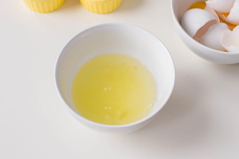 Patriotic Meringue Pops mix eggs and suger