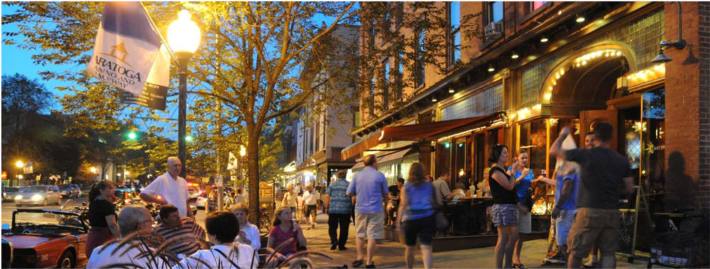 Exploring the shops and restaurants in Broadway