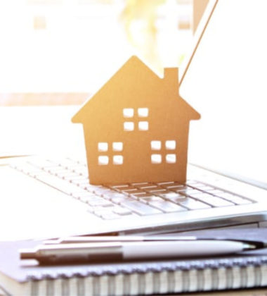 picture of a house on a laptop