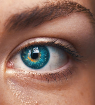 a persons blue eye