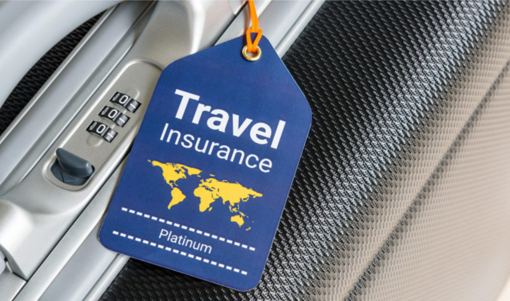 tag that says travel insurance