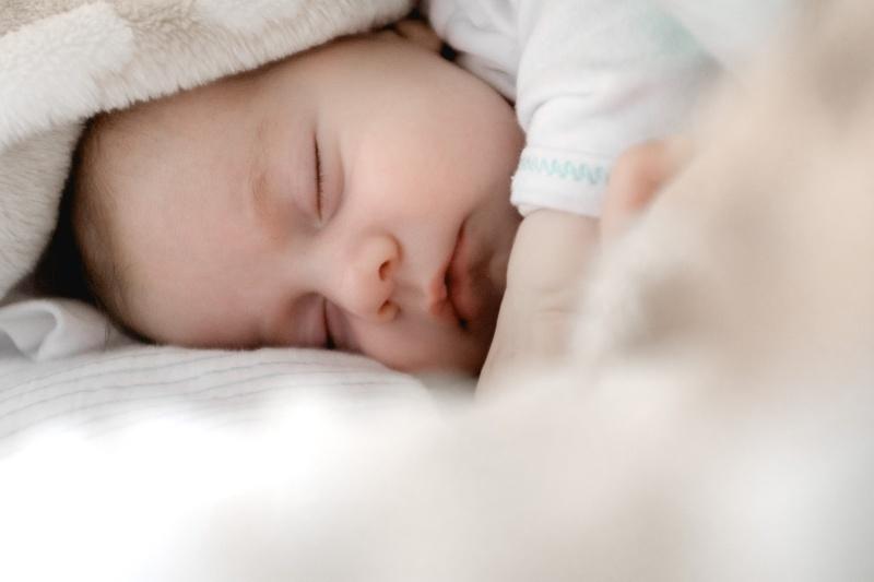 baby sleeping on side