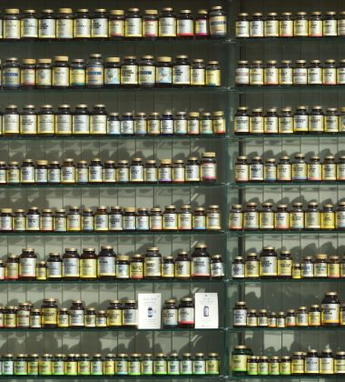 supplements on display