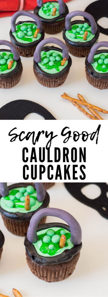 Cauldron Cupcakes Pin