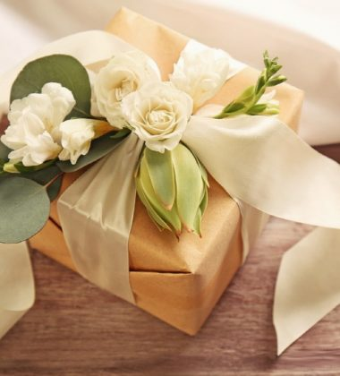 gift box with flowers