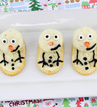 Melting Snowman Cheese Appetizer