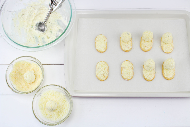 Melting Snowman Cheese Appetizer