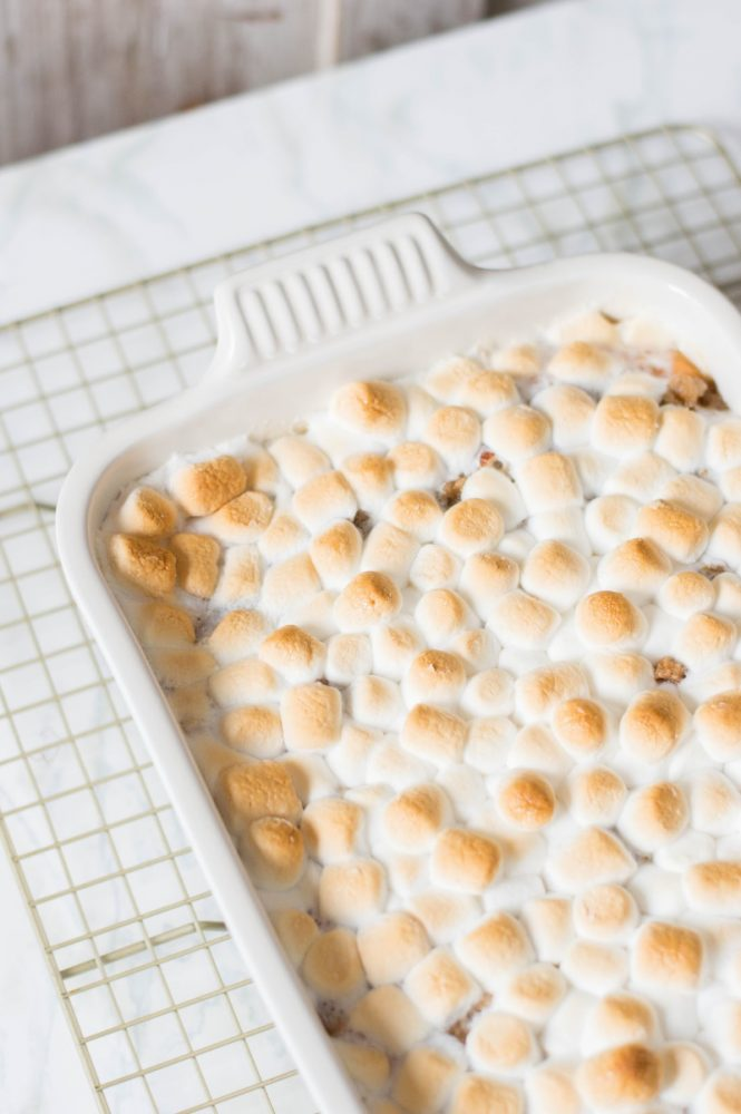 Sweet Potato Casserole on table