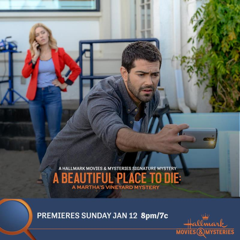 """Signature Mystery Series premiere, """"A Beautiful Place To Die: A Martha's Vineyard Mystery"""" Premiering Jan 12th at 8pm/7c on Hallmark Movies & Mysteries!"""