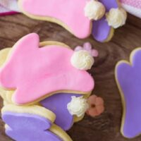 pink and purple bunny sugar cookies