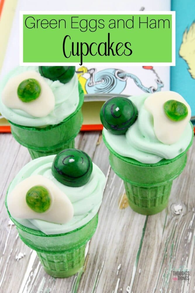Dr. Seuss Green Egg and Ham Cupcakes