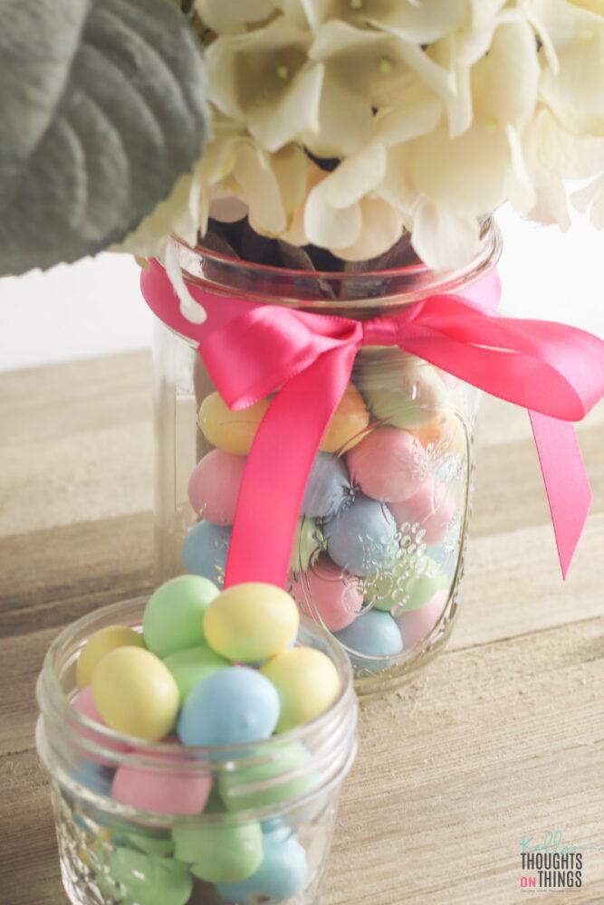 Easter Candy Flower Vase