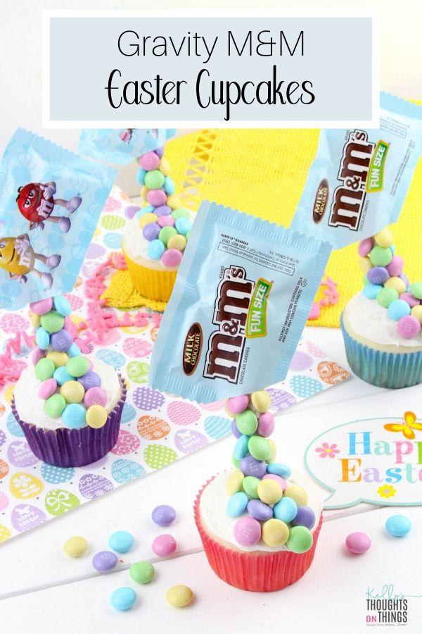 Gravity M&M Easter Cupcakes