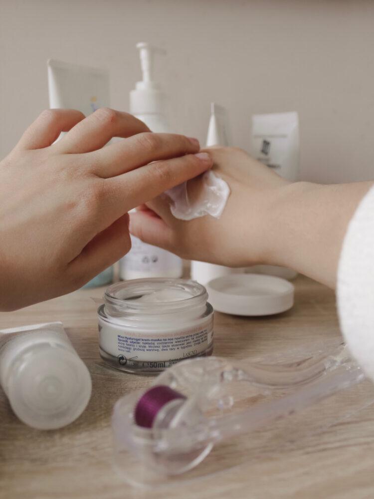 cream on hand