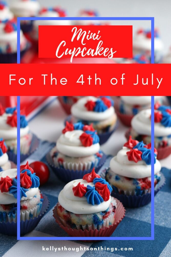Mini Cupcakes for the 4th of July on a plate