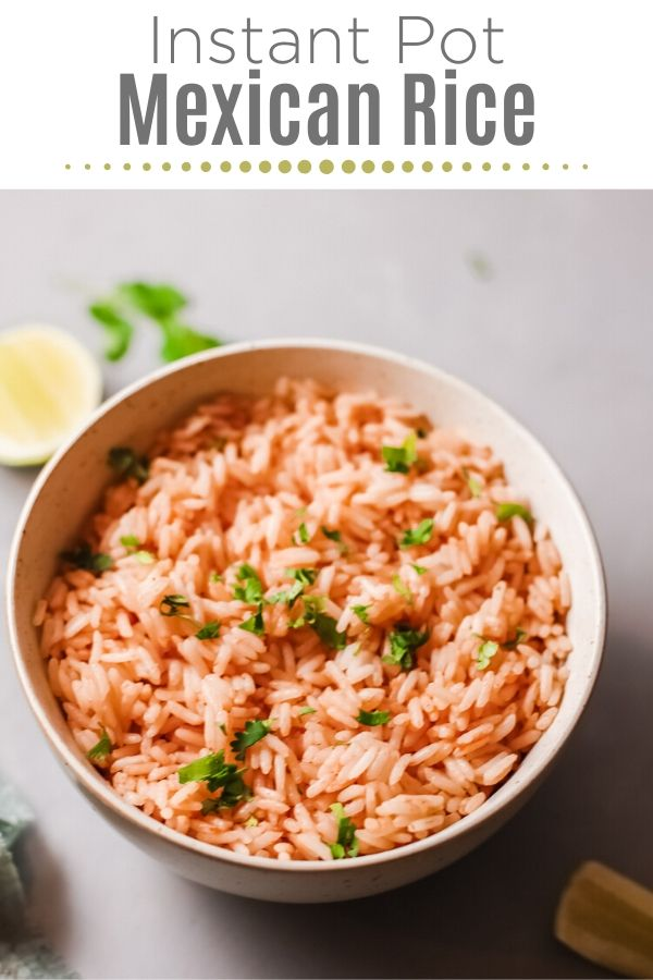 Instant Pot Mexican Rice in a bowl