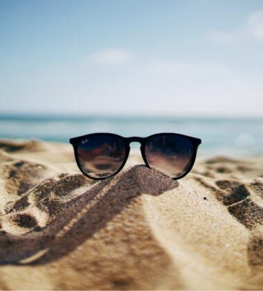 sun glasses on a beach